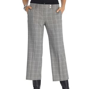 WHBM NWT Houndstooth cropped flare pants Sz 8